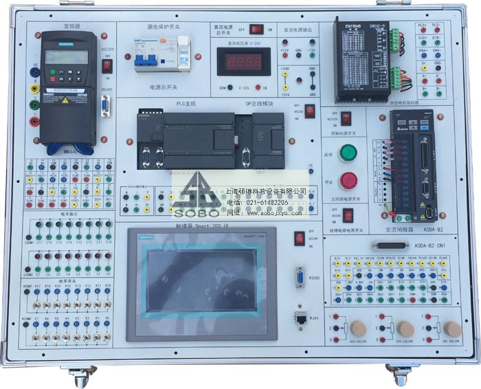 plc,变频器,触摸屏综合实训平台_上海硕博科教设备