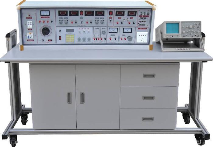 SBGJ-758B 高级模电、数电实验室成套设备  一、产品特点 实验台具有较完善的安全保护措施,较齐全的功能。在前几代的产品基础上各方面做了较大的改进,实验项目更加丰富,覆盖面广,实验内容要求更高,实验深度有较大提高,使实验更加深入完整。实验台装配智能化数字直流电表,测量精度高,测量范围宽,使用方便。数字部分实验利用进口新型集成座,实验时集成座插拔方便,接触可靠,集成座装在ABS塑料通用底座上,集成座脚引至接插孔,连接方便。利用该集成座仅需更换集成座就能无限制完成数字电路实验。便于学生课余兴趣小组电路开