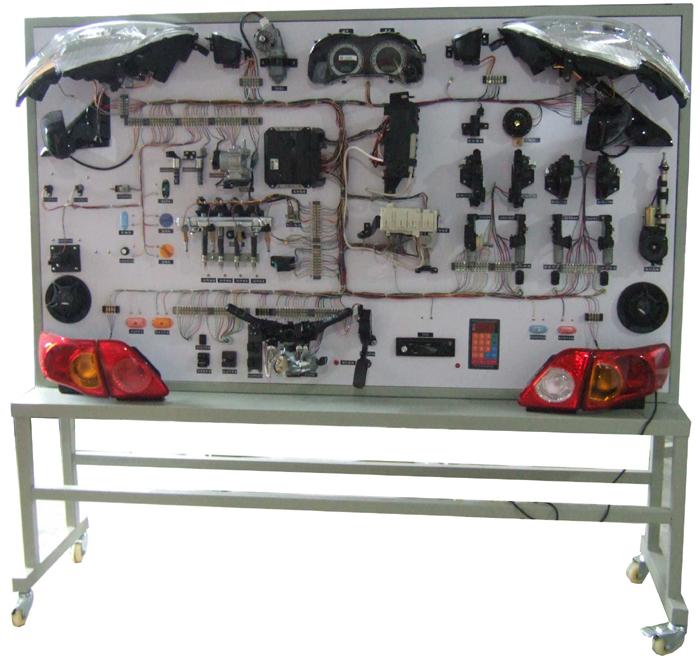 产品中心 汽车电器电路实训台    功能: 1)适用于汽车专业学员实操